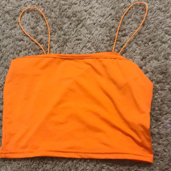 Urban Outfitters Tops - Neon Orange Crop top